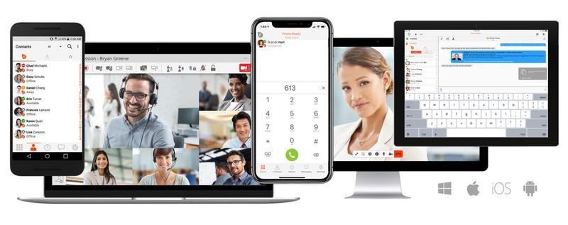 Softphone app on laptop - Cloud Phone System